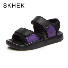 SKHEK Kids Sandals Fashion Casual Boys Girls For Baby Shoes kids Anti-Slip Children Sandals Genuine Leather Beach Shoes