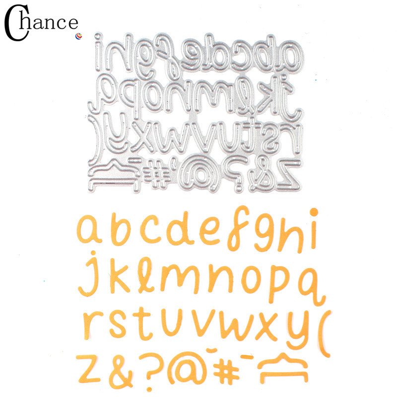 english letters symbol metal cutting dies for scrapbooking photo album decorative embossing folder die cuts