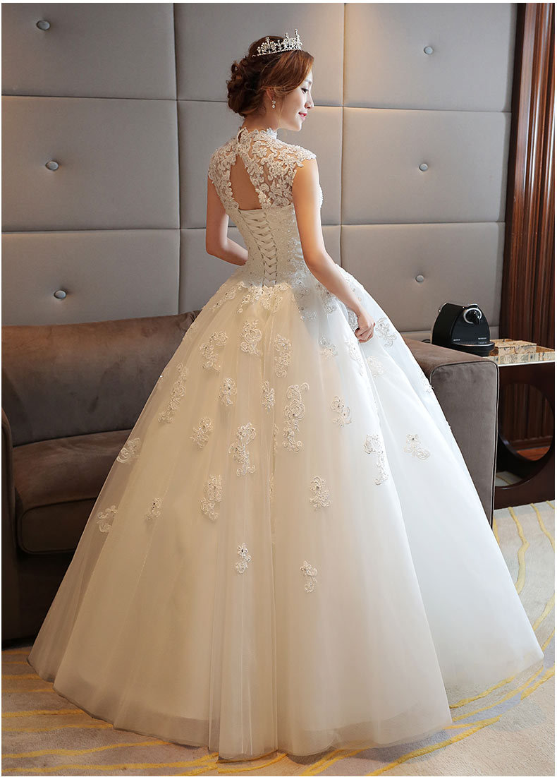 Korean plus size maternity wedding gown lace sexy see through korean plus size maternity wedding gown lace sexy see through short sleeve wedding dress floor length bridal ball gown in wedding dresses from weddings ombrellifo Images