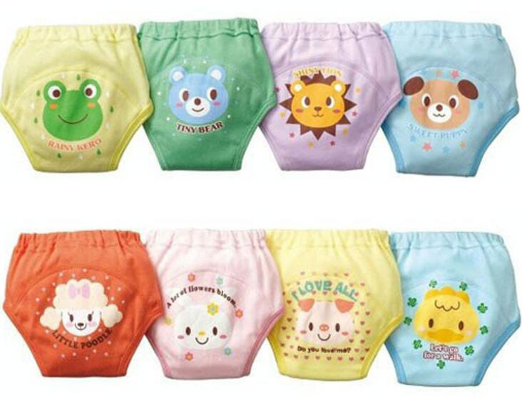 Thick 4 Layers Baby Training Pants Child Cloth Study Pants Reusable Diaper Cover Cotton Free Shipping ZY01