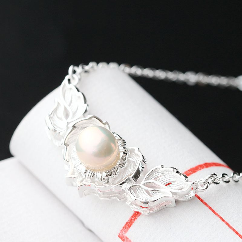 4d0a7dd3964c 925 sterling silver necklace natural pearls are hypoallergenic silver chain  set