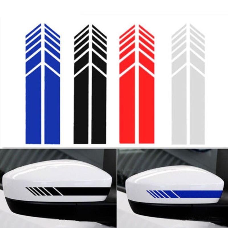 2 Pcs Auto Achteruitkijkspiegel Strip Sticker Vinyl Racing Decal Embleem Voor Mercedes Benz Amg E300l C260l C200l C300l E320l E200l A200l