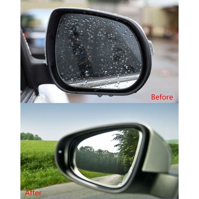 New 1 Pair Auto Car Anti Water Mist Film Anti Fog Coating Rainproof Hydrophobic Rearview Mirror Protective Film 4 Sizes 4