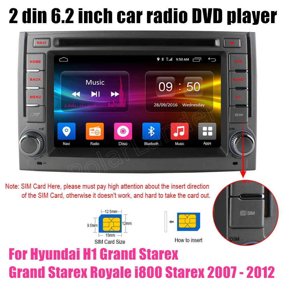 car dvd player gps radio bluetooth for hyundai h1 grand starex grand starex royale i800 starex [ 1000 x 1000 Pixel ]