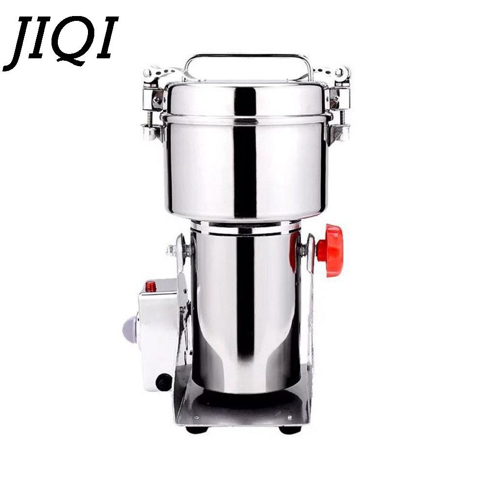 JIQI Chinese Medicine grinder 800G Electric grains Miller powder food grinding machine ultrafine herbs Crusher 110V 220V EU US цена и фото