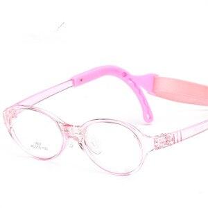 Image 3 - משקפיים לילדים ילד ילדה משקפיים אופטי משקפיים Eyewear מסגרת ילדי מרשם משקפיים מסגרת סיליקון האף טיפול 807