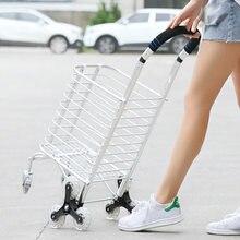 56b90aebef Carrinho de supermercado Carrinho de Compras Pequeno Carrinho Velho Reboque  Luz Casa Subir Escadas Carrinho de