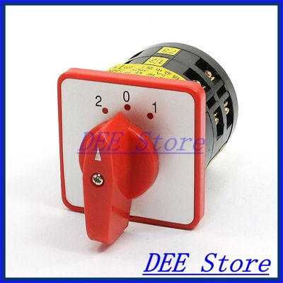 Panel Mounted ON/OFF/ON 3 Position 12 Screw Terminal Changeover Switch 16a 500vac 12 screw terminal 4 positions universal changeover switch