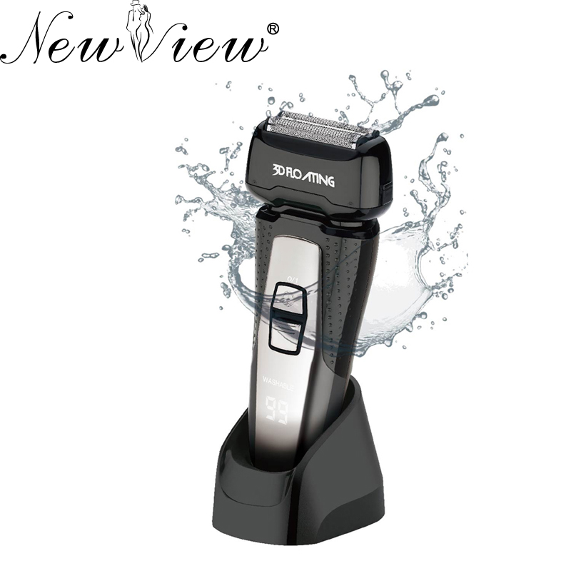 NewView Electric Shaver Rechargeable Hair Trimmer Floating Heads 3D Intelligent Razor For Men lili intelligent electric shaver wet dry men personal care razor washable beard trimmer 3d floating rotary rechargeable razor