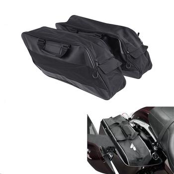 Motocykl Saddlebag wodoodporne wkładki bagaż podróży Pak dla Harley Touring Road King Electra Glide Street Road Glide 1994-2019 tanie i dobre opinie TCMT 0inch XF2906C185-B Siodło torby as description Luggage Paks