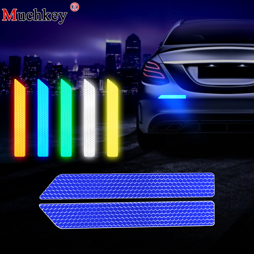 car Rear Bumper Anti Collision Rear-end cars warning Protector colorful Reflective Safety Tape Warning Conspicuity Sticker