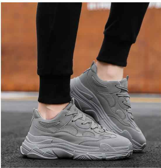 Outdoor soft bottom breathable comfortable running male Korean version of the trend of small white shoes