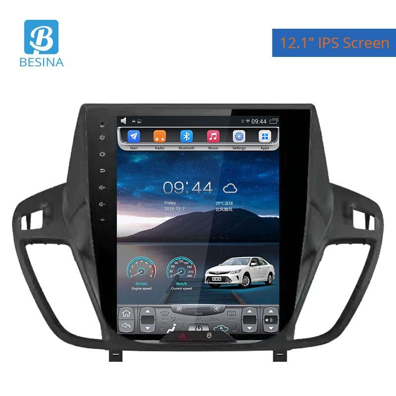 Besina 12.1 pouces Android 6.0 Voiture Lecteur multimédia Pour Ford Kuga 2013-2016 Autoradio GPS Navigation 2G + 32 GHIFI Stéréo Auto Audio