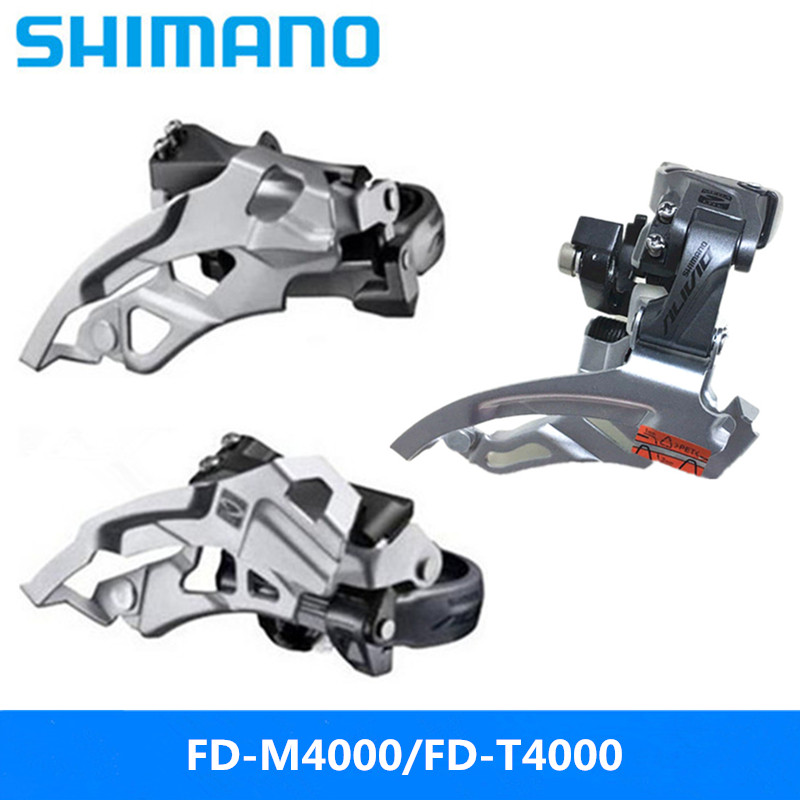 Cycling Bicycle Parts Lap Mountain Bike Front Dial 9/27 Speed Front Transmission Original Free Shipping Evident Effect Supply Shimano Alivio Fd-m4000/fd-t4000 Flat Push