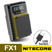 New Nitecore FX1 Dual Slot USB Camera Battery Charger For X-Pro1, X-T1, XE1, XE2, XA1, XA2, XM1, HS30, X-T2, X-E2S, X-T10