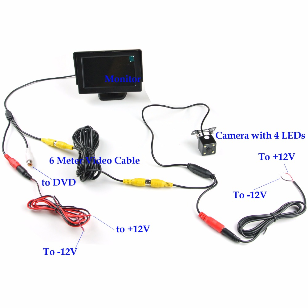 ANSHILONG 2in1 TFT LCD 2 Entrada de video Monitor de estacionamiento - Electrónica del Automóvil - foto 2