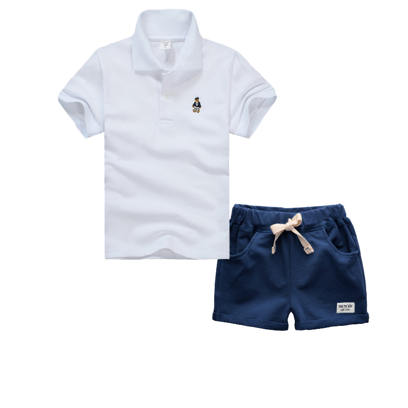 High Quality  Boys Clothing Sets Summer Boys Clothes Children Clothing T-shirt+Shorts Kids Clothes Toddler Boy Outfits Sport Sui