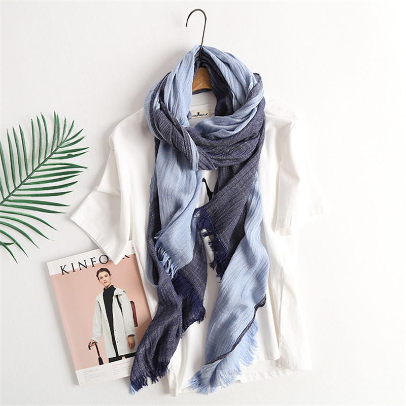 Men's Scarf Fashion Plaid Striped Cotton Scarves For Men Tassel Warm Ladies Brand Designer Scarves