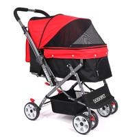 35kg Portable Folding Dog Cat Stroller Pet Carrier Cart Lightweight Outdoor Dog Walking Shopping Travelling Stroller CW071