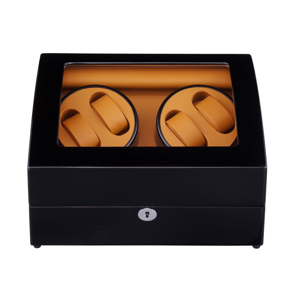 Watch Winder ,LTCJ Wooden Automatic Rotation 4+6 Storage Case Display Box (Outside is black Inside is brown)The new style 2018 цены онлайн
