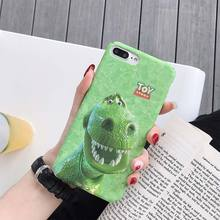 Cute PC Case For iPhone X XS XR Xs Max 7 8 Plus Funny Hard Cover 6S 6 Cases Dinosaur Pattern