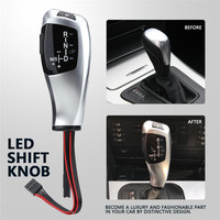 Xenplus Car Gear Shift Knob For BMW E39 4D 5D E53 Facelifted LHD Automatic Leather Plastic LED Silver Shift Gear Knob