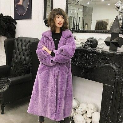 yellow grey Style Nouveau Manteau purple Fourrure De En Femmes 2018 Green C12 Haut Gamme Mode Fausse pORU5a6g