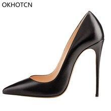 b53041a70799d7 OKHOTCN Marke Frauen Schuhe Dünne Stiletto High Heels Pumps Designer So  Kate Hochzeit Schuhe Damen Pigalle