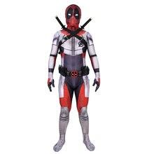 Deadpool cosplay Costumes Avengers Endgame Quantum Realm zentai Suit Halloween Cosplay Prop Belt Sword holster