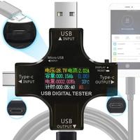 Usb 테스터 tft 컬러 블루투스 유형 c pd 디지털 전압계 vurrent 미터 전류계 전압 usb 전류 테스터 측정 전압계 도구 -