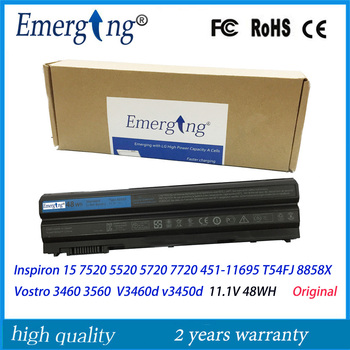 48WH Original New Laptop Battery for Dell Inspiron 15 8858x 7520 5520 5720 7720 451-11695 T54FJ Vostro 3460 3560 V3460 v3560