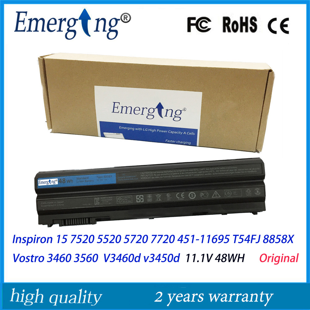 48WH Original New Laptop Battery for Dell Inspiron 15 8858x 7520 5520 5720 7720 451-11695 T54FJ Vostro 3460 3560 V3460 v3560