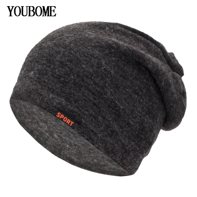 bc4a190a917 YOUBOME Skullies Beanies Women Scarf Winter Hats For Men Knitted Hat Ring  Mask Male Caps Soft