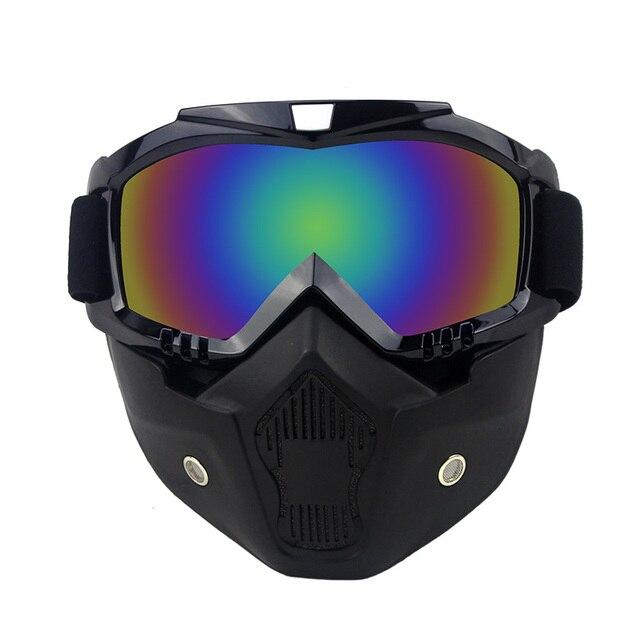 Горячая продажи BEON модульная маска съемные очки и рот фильтр идеально подходит для открытым лицом половина шлем или старинные шлемы
