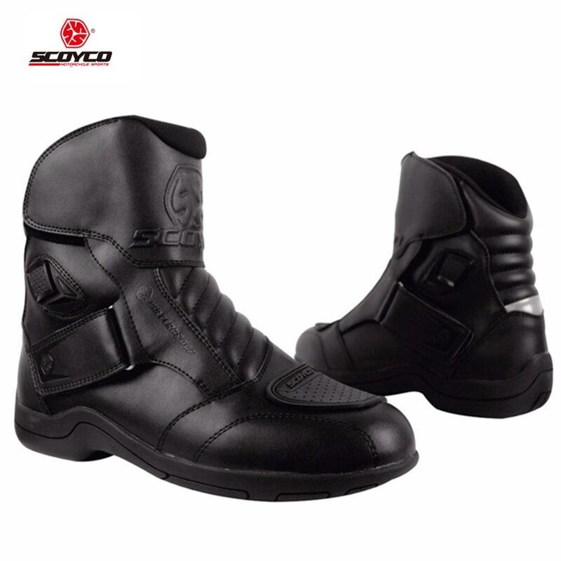 SCOYCO MBT011W imperméable à l'eau moto bottes chaussures moto courte équitation Motocross moto Sports route bottes chaussures