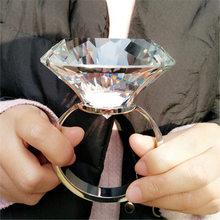 Creative Crystal Big Diamond Wedding Proposal Prop Valentine's Day Confession To Give Girlfriend Girlfriend Birthday Gift