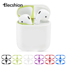 Dust Guard Metal Sticke For Apple AirPods Earphone Accessories Dust-proof Protective Plating Sticker Ultra Thin Skin