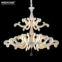 New design Chandelier LED Light Fixture Creative Shape White Acrylic Lustres Lamp for Dining room Hotel Lighting