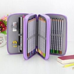 Estuche escolar de Oxford de 36/48/72 agujeros, estuche creativo de gran capacidad para lápices de dibujo, caja para bolígrafos, suministros multifunción para artículos de papelería para niños