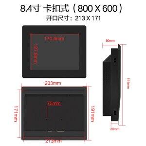 Image 2 - 8.4 Inch Mini Computer Industriële Led Monitor Met Vga Hdmi Dvi Av Uitgang
