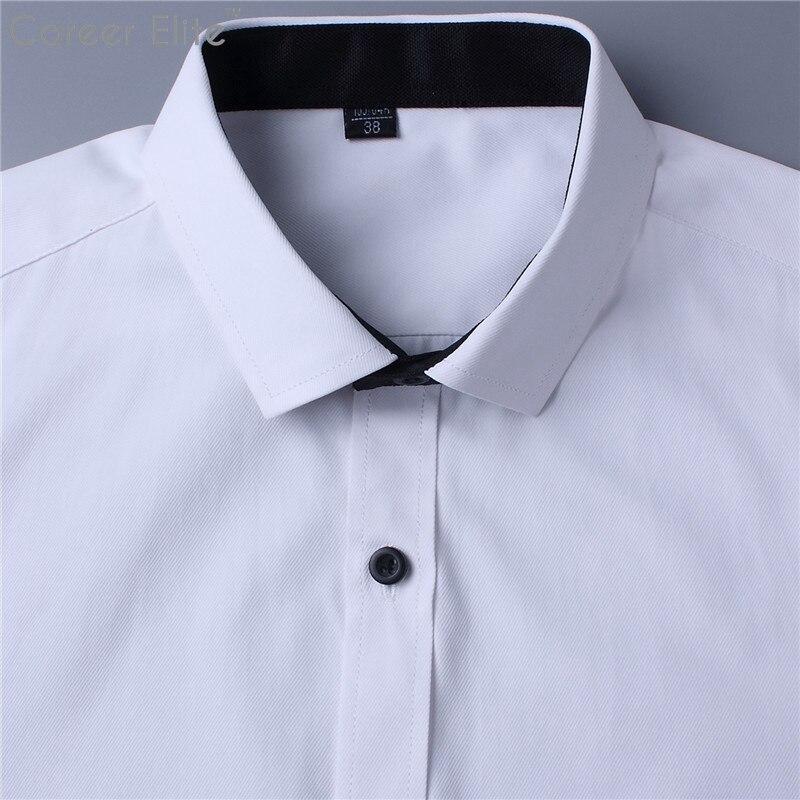 New 100% Cotton Blue White Casual Shirts Mens Dress Shirt Men Fashion Summer Top High Quality Short Sleeve Male Shirt Camisas