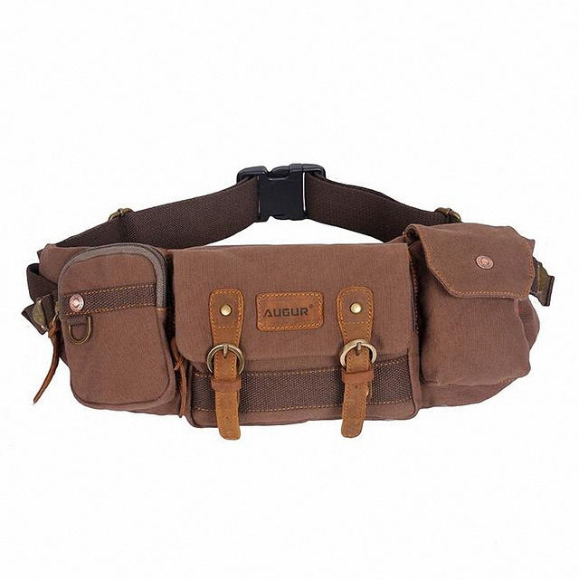 New Hot Multifunctional Casual Canvas Waist Pack For Men And Women Fashion Travel Belt Bag Money Pouch LI-1415