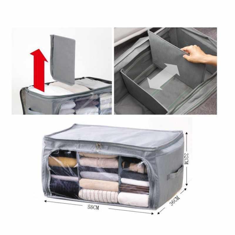 Wardrobe Quilt Storage Bag for Underwear Home Clothes Quilt Pillow Blanket Storage Bag Travel Luggage Organizer Sorting Bag