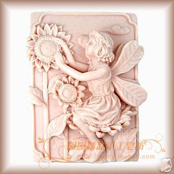 A Flower Child Lunlun Angel szilikon szappan formájú gyertya forma - Művészet, kézművesség és varrás