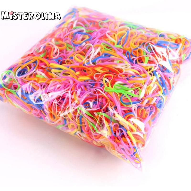 (1000 Pieces/lot) Pet Hair Rubber Band 3 Colors High Elasticity Dog Cat Hair Accessories