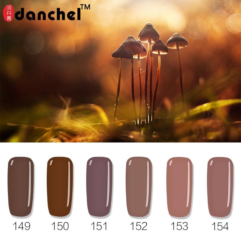 """""""Danchel Brown"""" serijos spalvos Nagų gelis Lenkinis mirkymas ilgai trunkantis UV Led pusiau nuolatinis 12 spalvų nagų želė lak lakas gelpolish"""