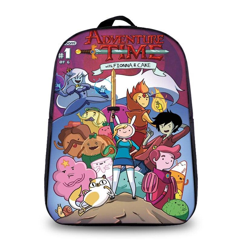 Новое поступление модные Малый размер аниме время приключений мультфильм печати детей школьного рюкзака для мальчика Обувь для девочек еж...