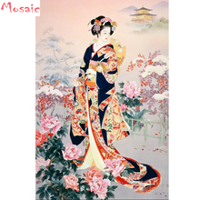 Japanese woman,Oriental Woman,Geisha,Diy,5d,Diamond painting Cross Stitch,Diamond Embroidery,Christmas gift, Mosaic,Home Decor