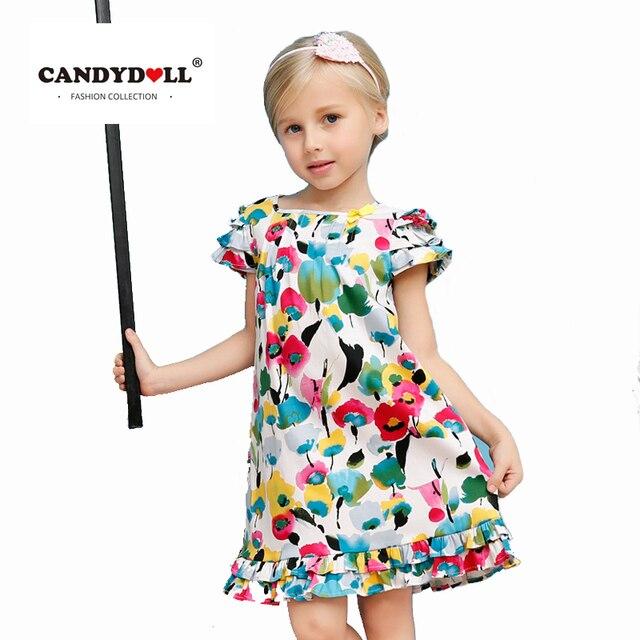 CANDYDOLL sommer baby mädchen kleid kinder baumwolle kostüm graffiti ...
