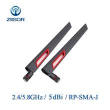 2pcs 2.4GHz Router เสาอากาศ WiFi 5.8GHz เสาอากาศ Omni RP SMA WIFI Extender เสาอากาศ WLAN ANTENNA สัญญาณ Booster z11 BWFSRJ